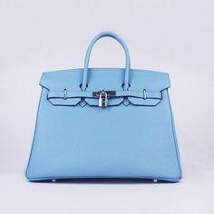 Wholesale Réplique Hermes Birkin 35CM meilleur cuir d argent de lumière  bleue Togo - € 9c4a0f17561