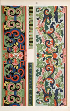 Ancient Chinese Ornament Design - From A Cloisonne Enamel Vase - 1987 Vintage Book Page - 9 x 13 Pattern Art, Pattern Design, Print Patterns, Art Nouveau, Chinese Design, Chinese Art, Chinese Ornament, Art Chinois, Chinese Patterns