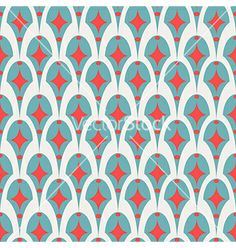 Geometric abstract retro seamless pattern on white vector by fuzzyfox on VectorStock®