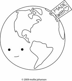 Happy Earth Day! The Earth WAS made for us with love! Be a good steward of its resources! Cute coloring page!