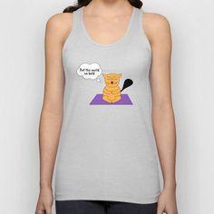 c636a8ba2c0a5d The cat that thinks... Yoga Unisex Tank Top Shirt Dress