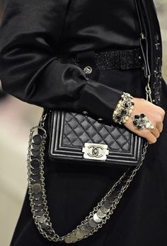 CHANEL Arm Candy Galore! ... repinned by Jourdan Dunn, follow more content at http://pinterest.com/shop4fashion/hottest-of-the-honey-pot/