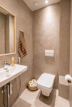 Mikrosementillä uusittu wc.