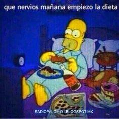 Que nervios mañana empiezo la dieta.... ~ Radio Palomo