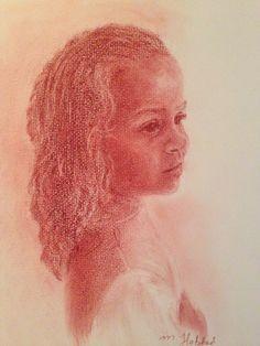 """Sara"" pastel portrait 2014"