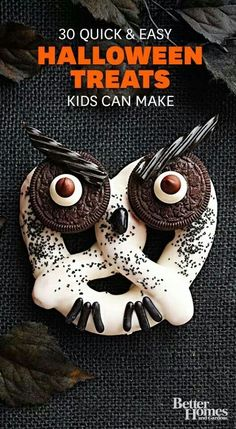 30 quick and easy Halloween treats kids can make