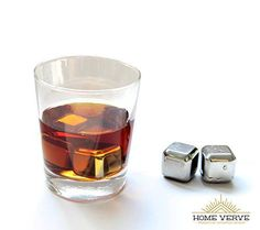Home Verve Stainless Steel Chilling Ice Cube - A Classy, Non-diluting alternative to Ice! It will cool down your drinks without watering them down. These Chilling Ice Cubes are a great Barware and should be a part of every Barware tool sets, and every Home >>> To view further for this item, visit the image link.