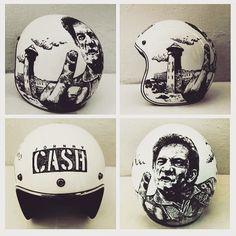 rebeccabonaci:   #johnnycash #customhelmet #bell...