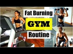 My Fat Burning GYM Routine (Treadmill Interval Running) - ♥ A lot of you have been wondering what I do in the GYM. Here's my Fat Burning Gym Routine in an hour! READ below for more info. ♥ LIKE, SHARE this video Full Body Dumbbell Workout, Fat Burning Cardio Workout, Interval Running, Cardio Workout At Home, Friday Workout, Running Workouts, Treadmill Workouts, Week Workout, Workout Plans