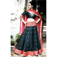Bollywood Replica - Party Wear Bhagalpuri Black Lehenga Choli - 60010
