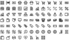 Native line icons pack - Round Icons Premium All Icon, Icon Set, Icon Tattoo, Icon Pack, Line Icon, Icon Design, Instagram, Inventions, Tattoo Designs