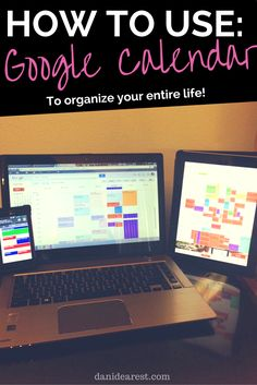 If there's one thing I can't live without while organizing my life... it's Google Calendar. This thing is so incredibly efficient and easy to use!