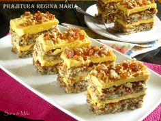 » Prajitura Regina MariaCulorile din Farfurie Romanian Desserts, Romanian Food, Layered Desserts, Small Desserts, Special Recipes, Unique Recipes, Sweet Pastries, Desert Recipes, Christmas Desserts