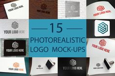 15 Photorealistic Logo Mock-Ups Set by Weeknd