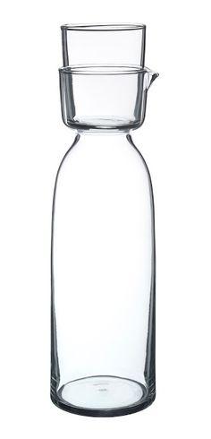 Via NordicDays.nl | New IKEA Viktigt Collection | Glass Carafe