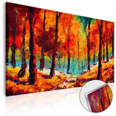 "Stunning colours on acrylic print - landscape ""Art Autumn"". #acrylicprints #glassprints #printsonglass #acrylicglass #wallart #walldecoration"