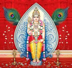In Chinese Buddhism, Skanda has been portrayed as Weituo, a young heavenly general, the guardian deity of local monasteries and the protector of Buddhist dhamma Ganesh Lord, Lord Shiva, Om Namah Shivaya, Lord Murugan Wallpapers, Shiva Shankar, I Love You God, Chinese Buddhism, Lord Krishna Images, Tanjore Painting