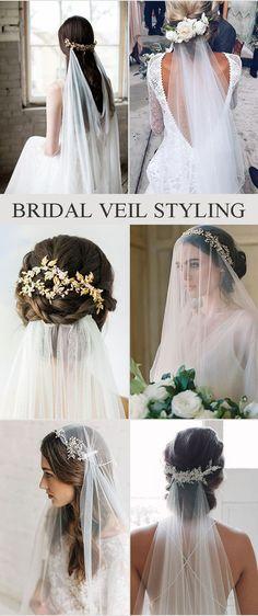 Bridal Hair Veil Styling Ideas #OctoberWeddingIdeas