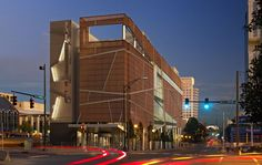 The Harvey B. Gant Center has a very modern design that reprsents the quilte patterns from the Underground Railroad. This building shows that Charlotte values African American history and is loking to bring all people together.