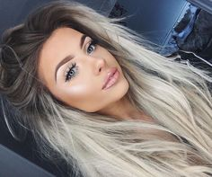 71 most popular ideas for blonde ombre hair color - Hairstyles Trends Blonde Lace Front Wigs, Brown Blonde Hair, Blonde Hair With Dark Roots, Dark To Silver Hair, Dark To Blonde Ombre, Ombre Hair For Blondes, Platnium Blonde Hair, Blonde Hair For Brunettes, Blonde Tips