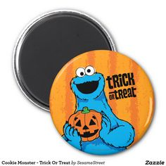 Cookie Monster - Trick Or Treat. Regalos, Gifts. #imanes #magnets