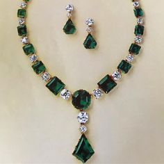 Throw back to the 70s. This magnificent emerald and diamond necklace and earrings were included in our Geneva auction of Magnificent Jewels in November 1975. @christiesjewels