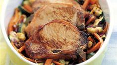 MatPrat - Koteletter og grønnsaker i ovn