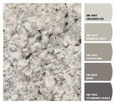 Formica® Laminate 6697 Argento Romano with the best paint pairings! Stunning in kitchens, beautiful in bathrooms. Updated Kitchen, Diy Kitchen, Kitchen Decor, Kitchen Design, Kitchen Ideas, Vintage Kitchen, Formica Kitchen Countertops, Laminate Countertops, Countertop Redo