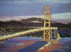 "The Golden Gate Bridge: 19x25"" Pastel. 2016. By G.DeBaun."