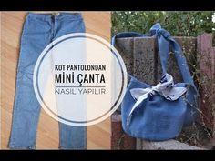 Eski kot pantolondan Mini Çanta Nasıl Yapılır? | Rabia'nın Tasarımları| DIY Bucket bag - YouTube