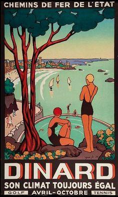 ✨  Yves Ja - Dinard. Son climat toujours égal. Chemins de Fer de l'État, 1933