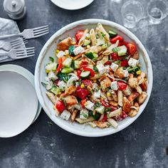 Now cook gyros salad in 15 and discover numerous other Weight Watchers recipes. Now cook gyros salad in 15 and discover numerous other Weight Watchers recipes. Breakfast Low Carb, Fast Food Breakfast, Weight Watchers Breakfast, Breakfast On The Go, Breakfast Bowls, Weight Watchers Meals, Breakfast Recipes, Quinoa, Recipes