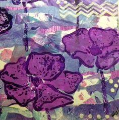 Stamp Laugh Play : Gelli Collage Stencil Play