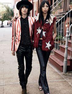 'That 70's Show': Gabriel Marques e Issa Lish para Vogue México Diciembre 2014.