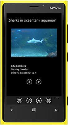 http://windowsphone.com/s?appId=8ee46d64-cb03-4cd4-9989-be27e03e063c World Live Cams with thousands of private and public video cameras and private and public webcams in the streets of the cities all over the world is now available for Nokia Lumia, LG, HTC, Motorola, Lenovo, ZTE and other Windows Phone smartphones and tablets