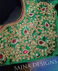 Latest 20 Bead Work Saree Blouse Designs For 2020 Stone Work Blouse, Mirror Work Blouse, Aari Work Blouse, Wedding Saree Blouse Designs, Fancy Blouse Designs, Blouse Neck Designs, Wedding Sarees, Blouse Patterns, Maggam Work Designs
