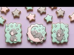 ADORABLE BABY ELEPHANT COOKIES featuring SWEET MELODY DESIGNS! - YouTube