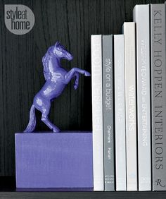 Style at Home managing editor and resident crafter Catherine Therrien shows you how to make a pair of chic equestrian-style bookends.