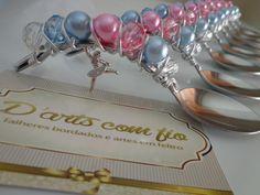 Colher de inox Tramontina, com pingente de bailarina, colher para doces e trufas <br>frete por conta do cliente
