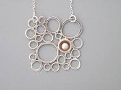 Image result for silver circle necklace handmade
