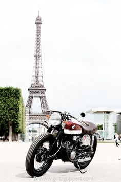 A Cool Honda Cafe racer, oh, & the Eiffel Tower