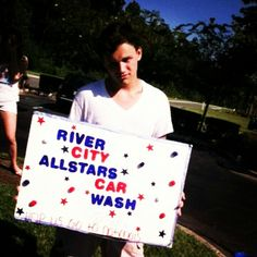 Me at the RCA carwash #SeniorSmoke