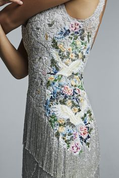 The detail of this dress is amazing. Hamda Al Fahim.