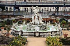 Taddeo e giuseppe carlone, fontana del nettuno, 1599.Fountain of Neptune in the garden of Villa del Principe, Genoa.