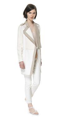 COMBINATION FABRIC COAT - Blazers - Woman | ZARA United Kingdom
