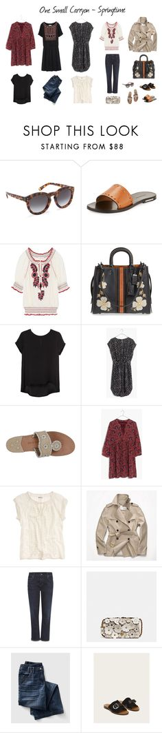 """""""One Small Carryon - Springtime"""" by kitsmommy ❤ liked on Polyvore featuring Isabel Marant, Tory Burch, Coach 1941, Madewell, Jack Rogers, Coach, Citizens of Humanity and Frye"""