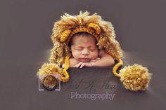 Baby Lion Hat - Newborn Photo Prop, Crochet Lion Hat, Baby Boy Photo Prop Lion on Etsy, $22.00