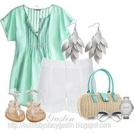 Summer Outfits 2012 | Turqoise Off-Shoulder Top summer-outfits-2012 – Fashionista Trends