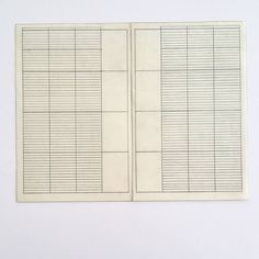 Grid, in pencil, for Grids: Their Meaning and Use for Federal Designer, Massimo and Lella Vignelli Papers, Vignelli Center for Design Studies