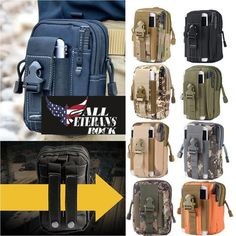 Outdoor Military Army Tactical Waist Belt iPhones Molle Bags